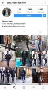fashion instagram account