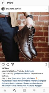 fashion men instagram account buy