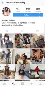 fashion instagram account for sale