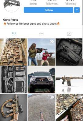 guns instagram account buy