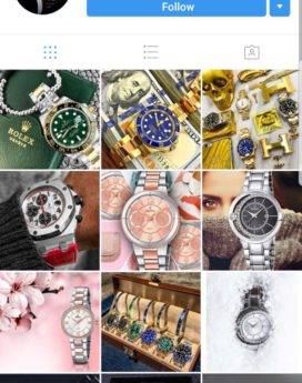 instagram watches account for sale