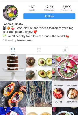 instagram account food