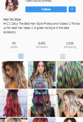 hair instagram account