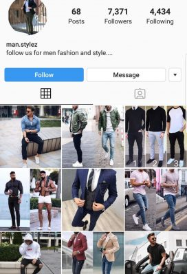 men fashion instagram account