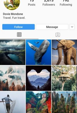 buy instagram page travel