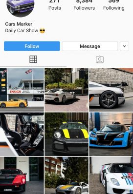 buy instagram cars page