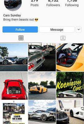 cars buy instagram account 2